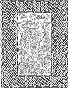 5 X Celtic Knots Adult Coloring Pages
