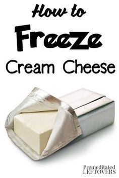 How to Freeze Cream Cheese- Try these tips on freezing and thawing cream cheese…. How to Freeze Cream Cheese- Try these tips on freezing and thawing cream cheese. You can extend the life of cream cheese up to 6 months by freezing it! Freezing Cream Cheese, Freezing Fruit, Freezing Vegetables, Freezing Cold, Freezing Butter, Freezing Onions, Canning Vegetables, Frozen Vegetables, Freezer Cooking