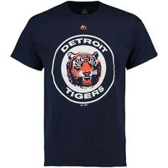 Detroit Tigers Majestic Cooperstown Logo T-Shirt - Navy - $24.99