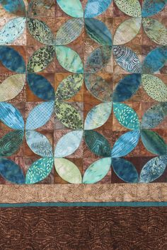 Close up of Mint Chocolate, stolen before #quiltmarket.  INFO?? Sue@suepellanddesigns.com