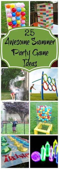 25 Best Backyard Birthday Bash Games - Pretty My Party Looking for fun games to play for your backyard party? Make any party a blast with 25 Best Backyard Birthday Bash Games! These outdoor games will be a hit! Summer Party Games, Backyard Party Games, Summer Parties, Summer Kids, Party Outdoor, Backyard Ideas, Outdoor Birthday Games, Boy Party Games, Childrens Party Games