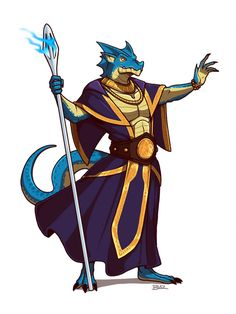 m Blue Half Dragon Wizard Robes Cloak Staff by Blazbaros DeviantArt Fantasy Character Design, Character Design Inspiration, Character Concept, Character Art, Dungeons And Dragons Characters, Dnd Characters, Fantasy Characters, Dnd Wizard, Dnd Dragonborn
