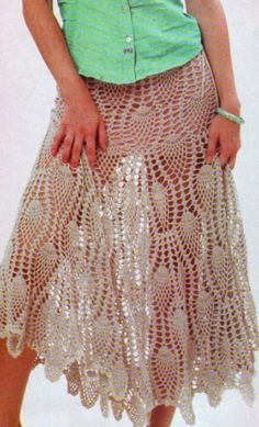 Free Crochet skirt pattern Would need underskirt, but would probably be pretty cool, and fast to make