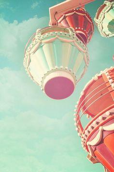 Carnival Print, Square Photograph, Ferris Wheel, Vintage Circus, Fair, Nursery…