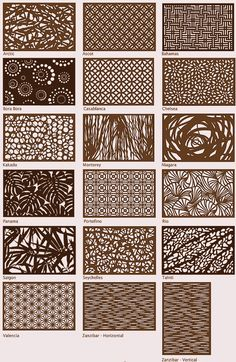 Decorative panels in Corten Steel. Padrões dos paineis disponiveis, fabricamos outros sob projeto, peça sua cotação. Oficina do Corten desde 2005