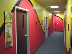 children's ministry wall themes | made way through the fun hallways to Todd's office where I caught ...