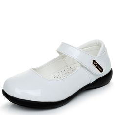 db03a7a3edd68 Girls Leather Shoes Kids Princesses Sandals Wedding Dress Party Shoes White Black  Shoes Flat Flower Children