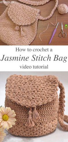 Easy crochet bag tutorial step by step crochet market bags free patterns Free Crochet Bag, Crochet Market Bag, Easy Crochet, Knit Crochet, Crochet Bags, Purse Patterns Free, Bag Pattern Free, Crochet Bag Patterns, Wallet Pattern