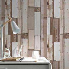 papier peint vinyle sur intiss planches bois bleut. Black Bedroom Furniture Sets. Home Design Ideas