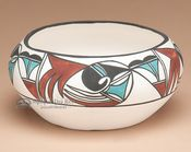 Southwesterrn Painted Tigua Pottery - Bowl