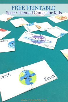Printable Space Themed Games ~ Solar System For Preschoolers