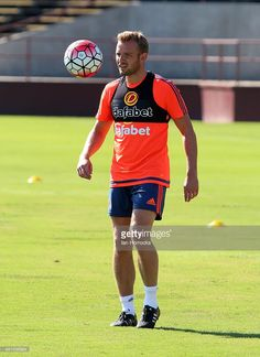 Lee Cattermole during a Sunderland training session at Santa Clara University on day 5 of a pre-season tour of the USA and Canada on July 16, 2015 in Santa Clara, United States.