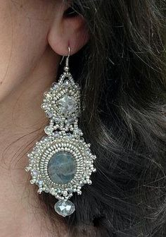 Beaded Earrings..wow love the drama these create!