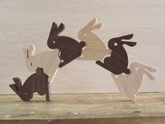 "cute bunnies... these would make great ""blocks""... easy scroll saw project"
