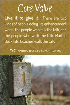 Martha Beck Coaches are some of the best in the world. Here are the core values that govern our personal and professional lives as coaches!