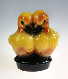 Vintage Double Love Birds Planter Ceramic by WeStartedWithAMouse