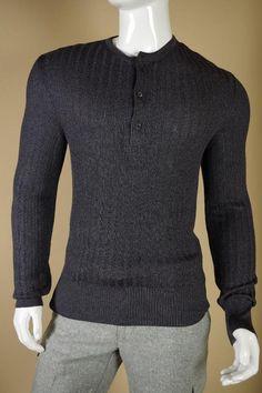 $1495 Tom Ford 100% Silk Sweater sz 56 XXL 2XL Gray White Cardigan Shirt Gucci #TomFord #12Zip