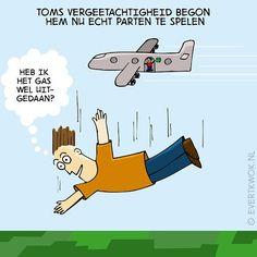 Vergeetachtig #parachute