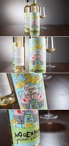 FRIENDS OF WAGRAM // Packaging Design: By www.impack.at PD #taninotanino #vinos #maximum