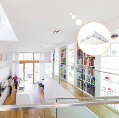 Koelplafond in een woonkamer geplaatst zodat ook in de zomer de ...