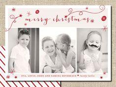 Beautiful printable Christmas card via le Poetik Studio.