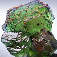 """this almost digital looking """"stepladder"""" fluorite from hunan province china looks like a digital cabbage! Minerals And Gemstones, Rocks And Minerals, Raw Gemstones, Crystal Aesthetic, Beautiful Rocks, Rock Collection, Mineral Stone, Rocks And Gems, Stones And Crystals"""