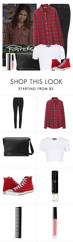 """""""ABC's The Fosters"""" by sweet-jolly-looks ❤ liked on Polyvore featuring Cheap Monday, Uniqlo, Gucci, Topshop, Converse, Pantene, GHD, Chanel, TheFosters and summer2015"""