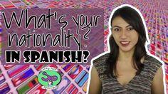 Nationalities in #Spanish - nacionalidades en español