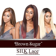 ISIS Human Hair Blend Lace Front Wig Brown Sugar Silk Lace BS604