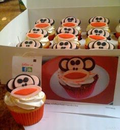 Check out these tasty Paul Frank Cupcakes