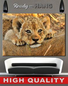 High quality canvas prints! #interiordesign #interiorstyle #decorating #decorate #decor #artforsale #CanvasPrint #CanvasPrints #CanvasArt #homedecor #officedecor #canvas #CanvasMafia #ideaforgift    Lion art Nursery Art Print Baby animal Cute animals