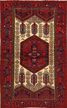 "Heriz Persian Rug, Buy Handmade Heriz Persian Rug 4' 1"" x 6' 7"", Authentic Persian Rug"