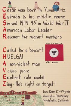 (Cesar Chavez tribute by 4th grade students)