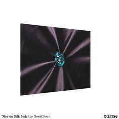 Dice on Silk Swirl Canvas Print