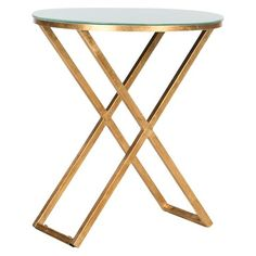 Safavieh Accent Table   Gold White