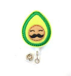 Avocado Dietitian Badge Holder Cute Badge Reel by BadgeBlooms