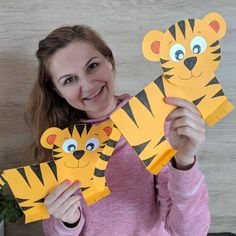 Paper Magic added a new photo. Zoo Crafts, Monkey Crafts, Tiger Crafts, Paper Crafts For Kids, Crafts For Kids To Make, Animal Crafts, Preschool Crafts, Fall Crafts, Projects For Kids