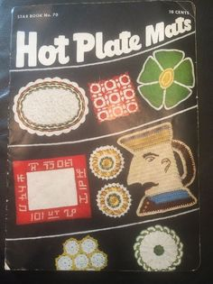 VTG 1950 Crochet Hot Plate Mats Pattern Instruction Booklet Star Book No. 70 #AmericanThreadCo