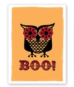 Show your spirit with these festive OWL Halloween cards.