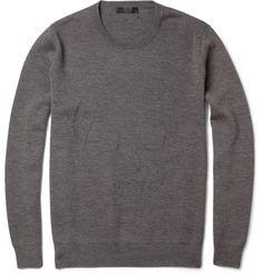 Alexander McQueenSkull Intarsia Wool Sweater. Weirdlegancia.