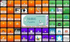 Symbaloo de herramientas TIC para crear y publicar CUENTOS | PaLaBraS AzuLeS Internet, Teacher Tools, Lectures, Periodic Table, How To Plan, Apps, Texts, School, Teaching Resources