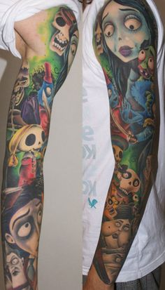 """Corpse Bride"" sleeve tattoo for K again hehe"