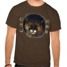 Cougar Mountain Lion Big Cat Painting 3 Tees