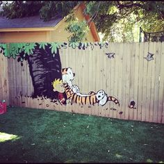 Calvin and Hobbes. When I have my own back yard, I'm doing this.