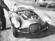 Lagonda DP115 V12 at  Le Mans 1954
