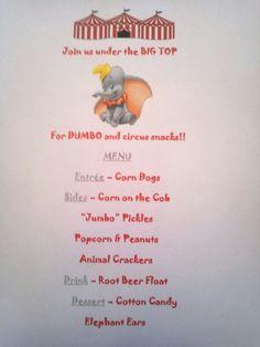 Disney Dinner Night - Dumbo