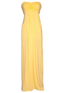 When you glide into the room wearing this gorgeous flowing Mossique maxi dress, you're sure to stop the show! Artful ruching encompasses the strapless sweetheart bodice that falls into a gorgeous full-length skirt. $119 #bevello