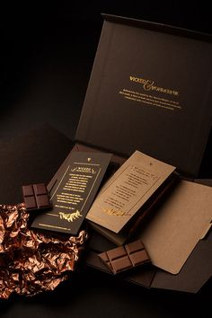 Wicked & Wonderful Chocolate - Shed Brand Innovation Biscuits Packaging, Food Packaging Design, Coffee Packaging, Bottle Packaging, Packaging Design Inspiration, Branding Design, Chocolate Brands, I Love Chocolate, Chocolate Lovers