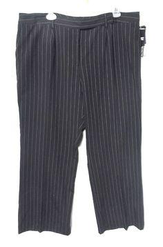 Nygard black career pants 18 Pinstriped hand wash Stretch new with tags Pockets #Nygard #DressPantsCareer