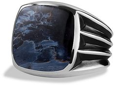DY Knife-Edge Signet Ring with Pietersite
